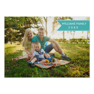 Elegant Modern Unique Personalized Family Photo Poster