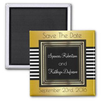 "Elegant & Modern Wedding ""Save the Date"" Square Magnet"