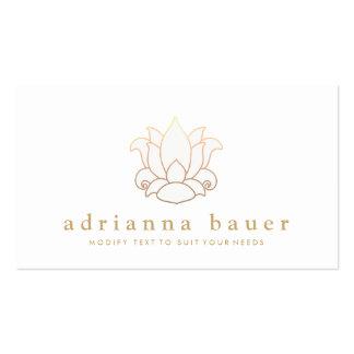 Elegant Modern White Lotus Flower Pack Of Standard Business Cards