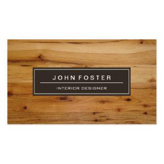 Elegant Modern Wood Grain Look Pack Of Standard Business Cards