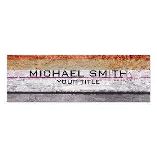 Elegant Modern Wood Painted Look #10 Pack Of Skinny Business Cards