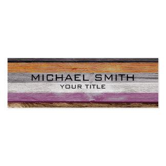 Elegant Modern Wood Painted Look #2 Pack Of Skinny Business Cards