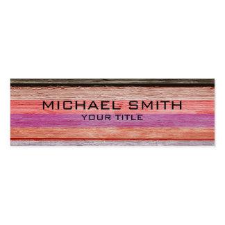Elegant Modern Wood Painted Look #4 Pack Of Skinny Business Cards