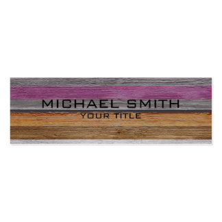 Elegant Modern Wood Painted Look #7 Pack Of Skinny Business Cards