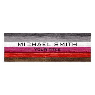 Elegant Modern Wood Painted Look Pack Of Skinny Business Cards
