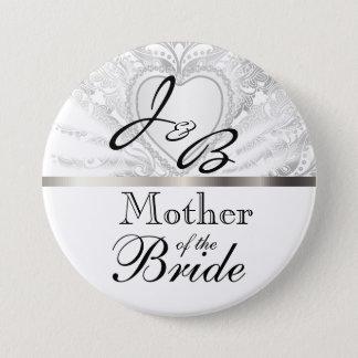 Elegant Monogram Bridal Party White Satin Design