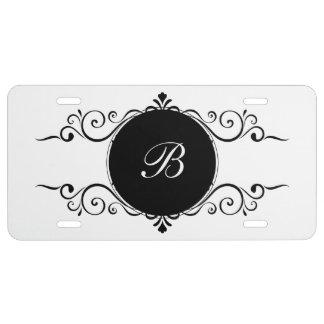 Elegant Monogram Car Tags