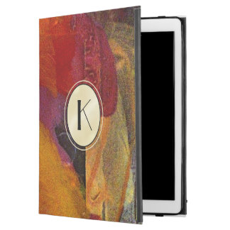 Elegant Monogram Colour Abstract Art iPad Case