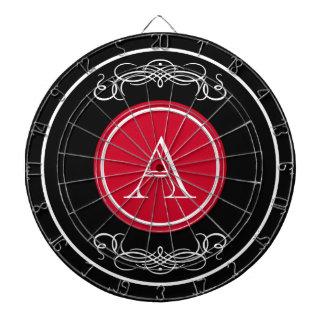 Elegant monogram design dartboard