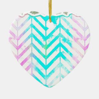 Elegant Monogram Floral pink and blue Ceramic Ornament