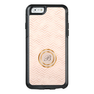 Elegant Monogram Gold And Rose Gold OtterBox iPhone 6/6s Case