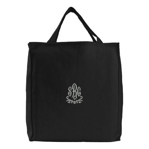 Elegant Monogram Initials Embroidered Bag