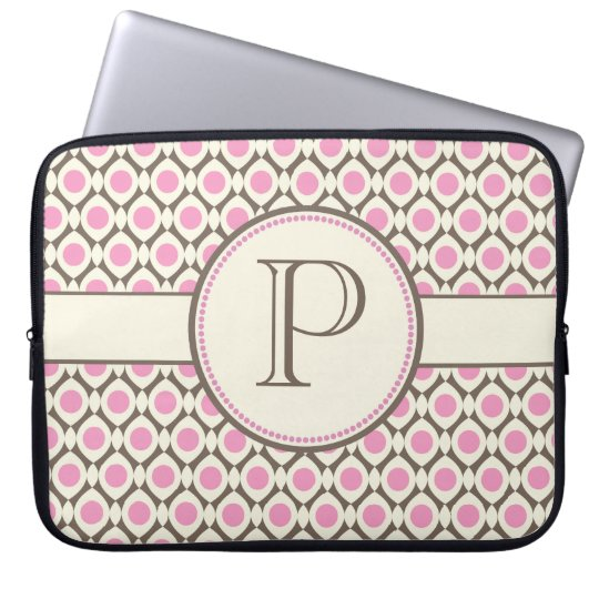 Elegant Monogram Modern Pattern Laptop Bag