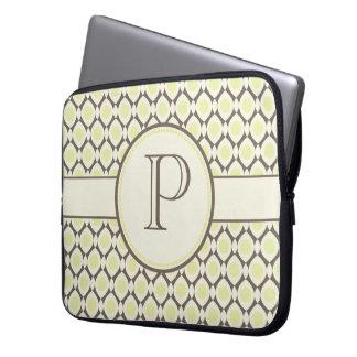Elegant Monogram Modern Pattern Laptop Bag Laptop Computer Sleeves
