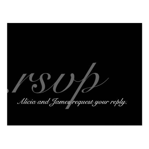Elegant Monogram RSVP Postcard for Wedding