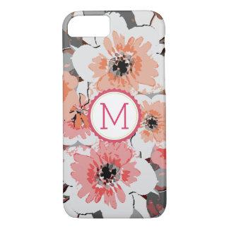 Elegant Monogram Vintage Floral iPhone 8/7 Case