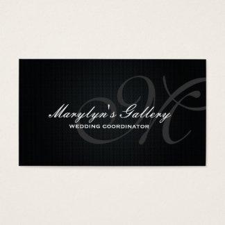 Elegant Monogram Wedding Coordinator Business Card