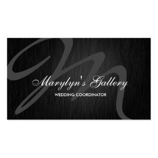 Elegant Monogram Wedding Coordinator Business Cards