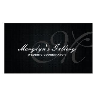 Elegant Monogram Wedding Coordinator Pack Of Standard Business Cards