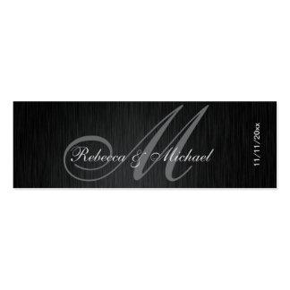 Elegant Monogram Wedding Favor Tags Pack Of Skinny Business Cards