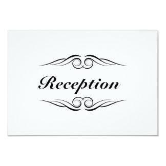 Elegant Monogram Wedding Reception Card 9 Cm X 13 Cm Invitation Card