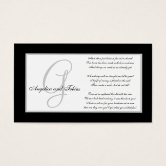 Elegant Monogram Wedding Wishing Well Cards