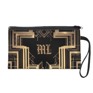Elegant Monogramed Great Gatsby Design - Wristlet