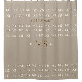 elegant monogrammed / personalized shower curtain
