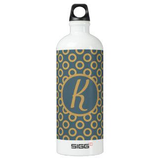 Elegant Monogrammed Water Bottle
