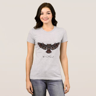 Elegant Mosaic Decorative Wise Old Owl Animal Art T-Shirt
