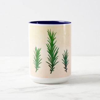 Elegant mug with green Rosemary