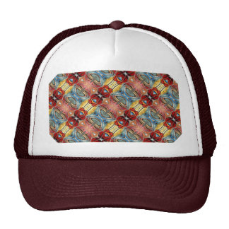 Elegant Multicolored Geometric Abstract Flowers Hats
