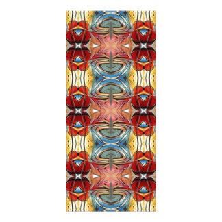 Elegant Multicolored Geometric Abstract Flowers Rack Card Design