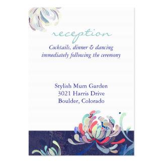 Elegant Mum Flower Wedding Reception Card(3.5x2.5) Business Card