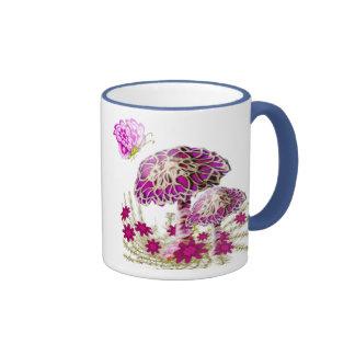 Elegant Mushrooms and Butterflies by AngelArtiste Coffee Mugs