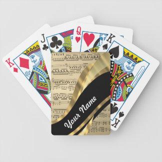 Elegant music sheet bicycle card decks