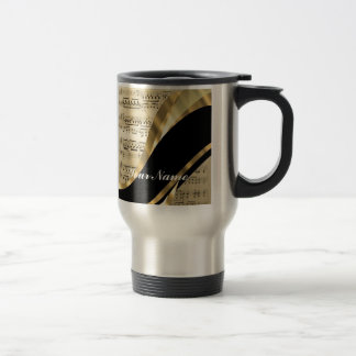 Elegant music sheet stainless steel travel mug