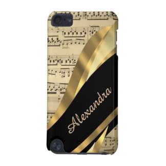 Elegant music sheet personalized iPod touch (5th generation) case
