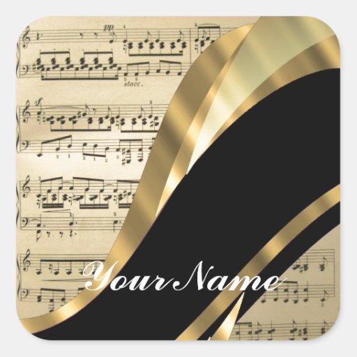 Elegant music sheet sticker