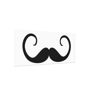 Elegant Mustache Stretched Canvas Print