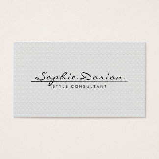 ELEGANT NAME ON VINTAGE PATTERN II Business Card