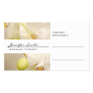 ELEGANT NAME with ORCHIDS Appointment Card Pack Of Standard Business Cards