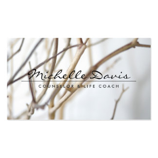 ELEGANT NAME with TREE BRANCHES Business Card