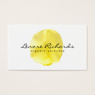Elegant Name with Yellow Flower Petal II Business Card