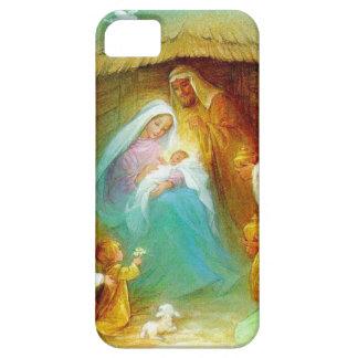 Elegant Nativity scene, Mary Jesus Joseph iPhone 5 Case