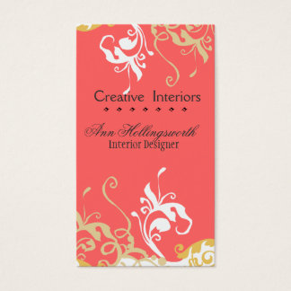 Elegant Nature Floral  Lilly Bold Colors Business Card