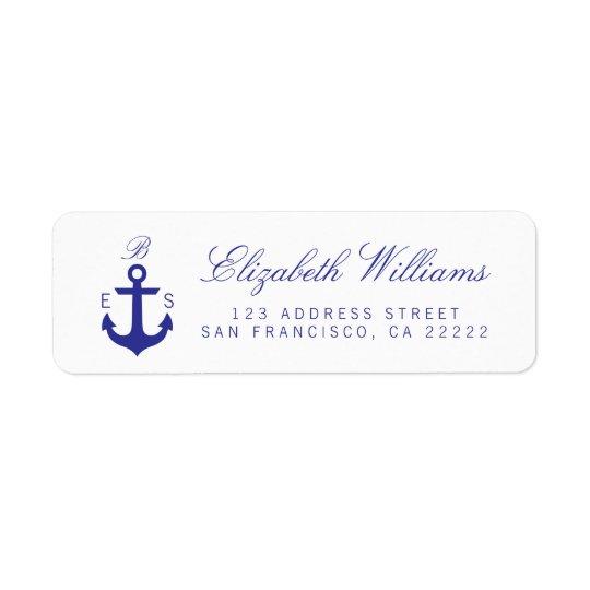 Elegant Nautical Monogram Return Address Labels