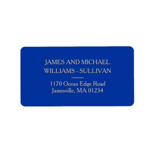 Elegant Navy Blue and Gold Address Labels