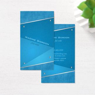 Elegant navy blue blue business card