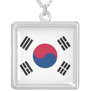 Elegant Necklace with Flag of South Korea